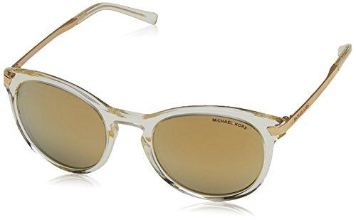 Michael Kors ADRIANNA III MK2023 Sunglasses 31667P-53 - Champagne Gold Frame, Liquid - Adrianna Gold