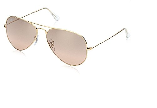 Ray Ban RB3025 001/3E 62M Gold/ Brown Pink Silver Mirror - Pink Aviator Ban Gold Ray