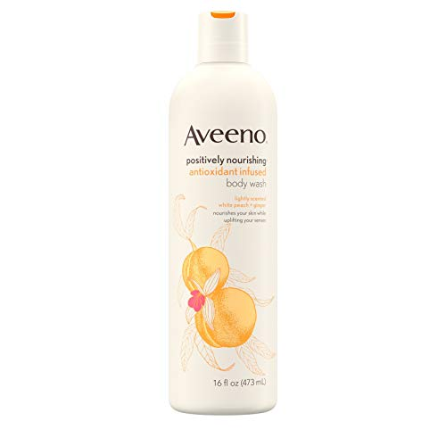Aveeno Positively Nourishing Antioxidant Infused Body Wash with White Peach & Ginger, Lightly Scented Daily Nourishing Body Wash, 16 fl. oz