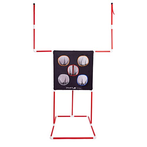 Nfl Game Gear Tee - Powerfly Kids Football Toss Game - 2-in-1 Football Target Net & Field Goal Post - Outdoor or Indoor Throwing Practice - Best Sports Toys for Boys 2019