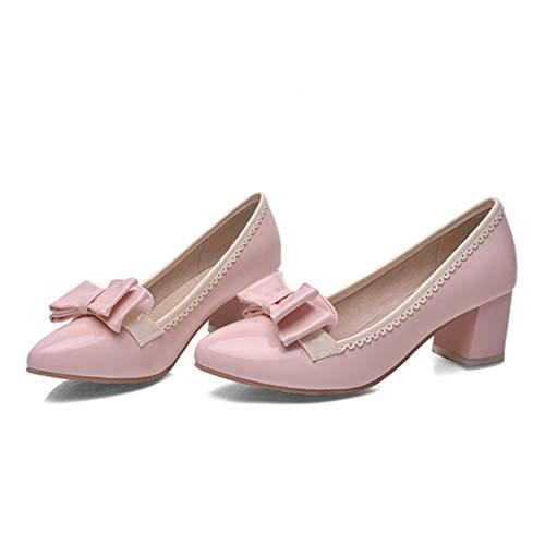 Bloc Rose Vitalo Toe Moyen Arc Chaussures Talon Avec Slip Peinture Élégant On Decolte Woman Confortable Bout ffqZCw6