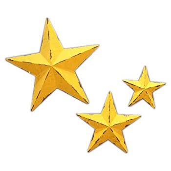 Amazon.com: YL Crafts - Metal Star Wall Decoration Mounted Wall Art ...