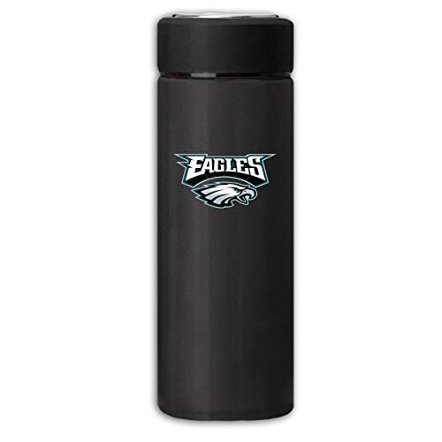 Sorcerer Black Travel Thermos Cup 12 OZ Philadelphia Eagles Stainless Steel Water Bottle Leak Proof Cup Cover Slip Scratch Vacuum Insulation Mug Hot/Cold Drink Coffee Bottle 350ml ()