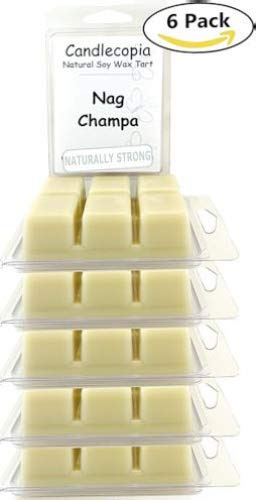Candlecopia Nag Champa Strongly Scented Hand Poured Vegan Wax Melts, 36 Scented Wax Cubes, 19.2 Ounces in 6 x 6-Packs