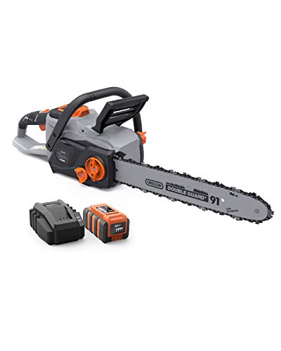 Anker Roav 14-Inch 36V Lithium-ion Cordless Chainsaw, Brushless Motor, 21m/s Chain Speed, Compact Design, 3.0 AH Battery and Charger Included
