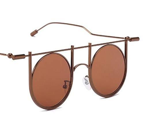 Light sol conducción sol de Gafas Brown UV400 marco retro FlowerKui aire unisex protección gafas al redondo clásicas de libre gafas de wpHn7CqEC