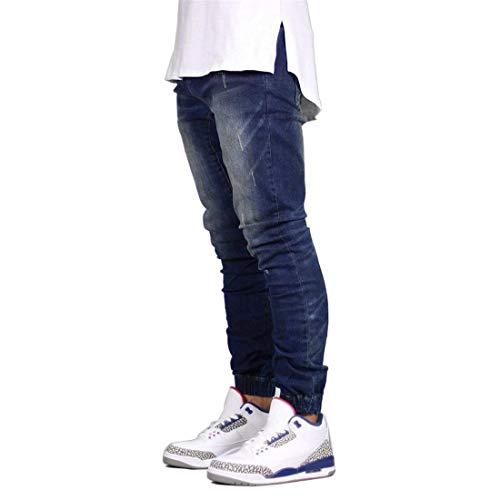 Jeans Pantaloni Slim Polsini Vestibilità Fit Con Dunkelblau Elasticizzati Pantalone Elasticizzato Da Uomo E UwURdf
