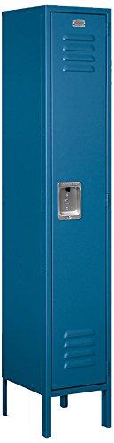 Salsbury Industries 61152BL-U Single Tier 12-Inch Wide 5-Feet High 12-Inch Deep Unassembled Standard Metal Locker, Blue by Salsbury Industries