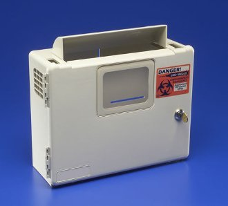 Kendall 5qt Sharps Container Wall Mount Cabinet Safety keyed. FREE 5qt container ()