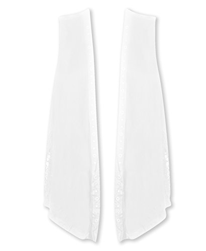 Plus Size White Vest with Lace Back --Size: 2x Color: White