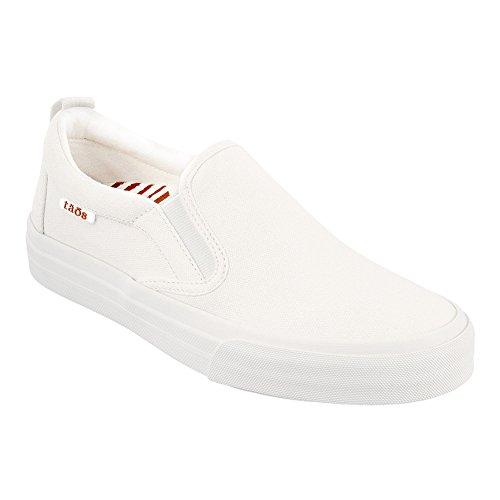 Taos Footwear Women's Rubber Soul Slip On White Canvas