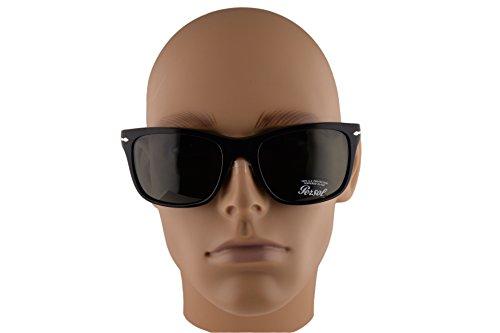 f6182d890f8 Persol PO3135S Sunglasses Black w Green Lens 9531 PO 3135-S For Men  Amazon. ca  Clothing   Accessories
