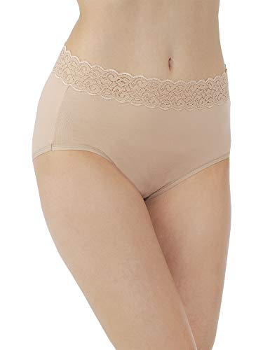 Lace Stretch Panties - Vanity Fair Women's Flattering Lace Cotton Stretch Brief Panty 13396, Honey Beige, Large/7