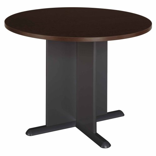 Bush Business Furniture Series C 42 Inch Round Conference Table, Mocha Cherry with Graphite Gray (42 Round Table)