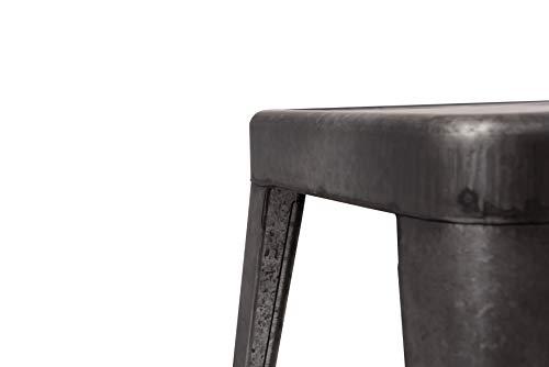 Creative Co-op DA7817 Grey & Brown Galvanized Metal Bench, Grey by Creative Co-op (Image #6)