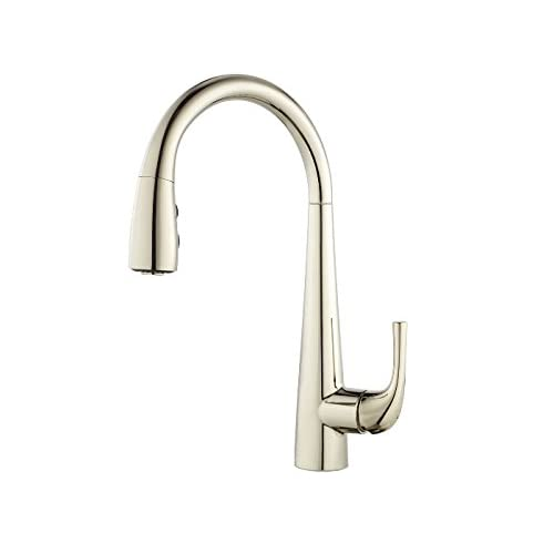 Polished Nickel Kitchen Faucets Amazon Com
