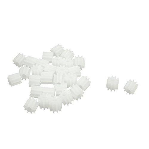 30 Pieces DealMux 5.5mm x 2mm 9-Teeth Plastic Motor Gear Pinion for RC Model