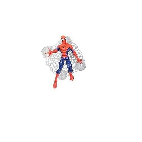 (Spider-man Classic Heroes Figure Assortment Spider-Man Blue with Wall Sticking Web (Blue May Vary))