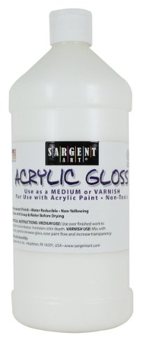 Acrylic Paint Varnish - Sargent Art 22-8810 32-Ounce Acrylic Gloss and Varnish