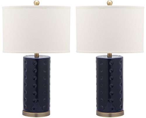 - Safavieh Lighting Collection Roxanne Navy 26-inch Table Lamp (Set of 2)