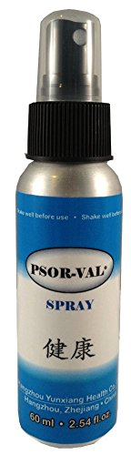 PSOR-VAL Fast-Acting Zinc Pyrithione Skin Disorder Relief Spray for Psoriasis, Dermatitis and Eczema Symptoms (2.54 fl oz. 60ml) Trial/Travel Size