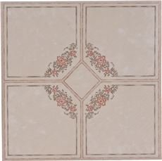Price comparison product image National Brand Alternative 842141 Floor Tile No Wax Self Stick44; Floral Rose & Gray - 12 x 12 in.