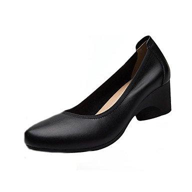 Formales Negro 5 Cuero 3 Zapatos Cn41 Chunky 1 Tacones Uk7 Oficina EU38 Mujer Negro Verano Auténtico Carrera 5 UK5 Talón amp;Amp; Primavera Formales CN38 4En 1A Zapatos US7 Us9 Ue40 La qUxRCwP