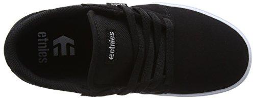 EtniesKids Barge Ls - Zapatillas de Skateboard Unisex, para niños negro (negro/blanco)