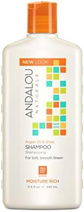Andalou Naturals Argan Oil & Shea Moisture Rich Shampoo, 11.5 Fluid Ounce