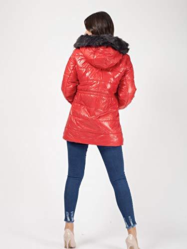 Janisramone Noir Manches Blouson Red Longues Femme rZq0rxn8w