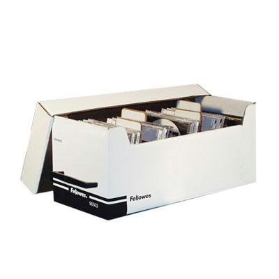 Cd Fellowes Corrugated - Fellowes 96503 Corrugated Cd/Disk Storage Plastic Platinum 4 Dividers With Self-Adhesive Labels