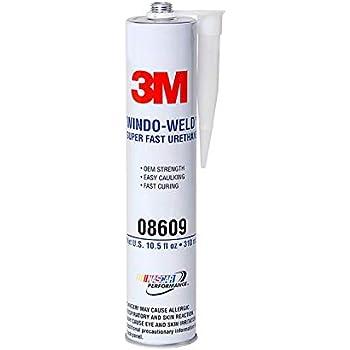 3M 08609 Window-Weld Super Fast Urethane Black Cartridge - 10.5 fl oz.