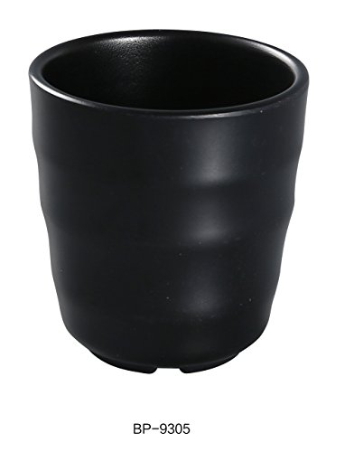 - Yanco BP-9305 Black Pearl-2 Tea Cup, 7oz Capacity, 3.5