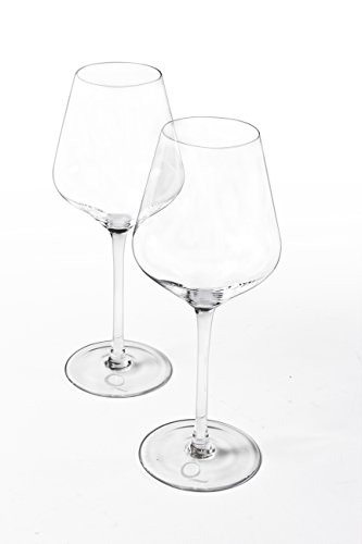 Crystal Wine Glasses by Pique Lifestyle, for both Red or White Wine, Elegantly Hand Blown, Cocktail Glass, Lead Free, 20.5 Oz, Set of 2, for both Men and (Crystal Glass Red Wine Glass)
