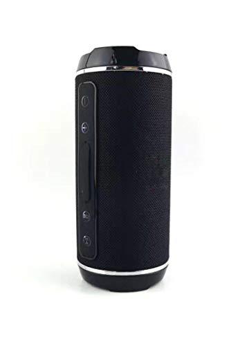 Wireless 10W Bluetooth 4.2 Speaker Column Vibrating Portable High Power Bluetooth Speakers Boombox Wateroof Speakers,116-Black