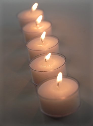 Higlow Wedding Clear Cup Tealight Candles Burns 4.5 Hour, Set of 125