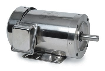 3 hp 3450 RPM 145TC Frame TEFC 208-230/460 Volts Stainless Steel Leeson Electric Motor # 191492