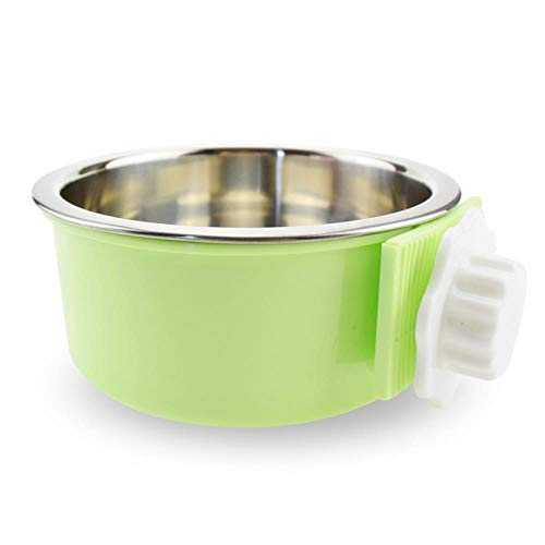(Kitchenware yoga exercise Dog Bowl, Dog Basin, pet cage, Hanging Stainless Steel Bowl Feeder, Fixing Utensils, Trumpet)