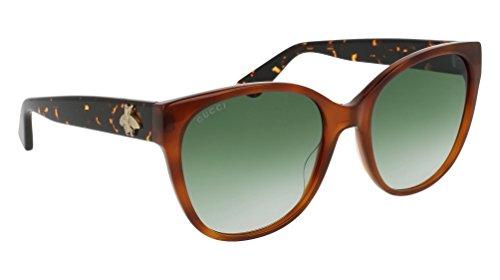 Gucci GG 0097 S- 003 AVANA / GREEN - Gucci Sunglasses Gg0036s