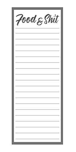 Funny Magnetic Note Pad for Refrigerator Shopping and To Do Lists For Grocery 50 Sheets 3x8 Inches Groceries /& Shit Notepad with Magnet