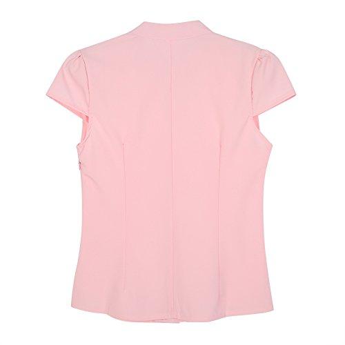 269911d152fe0 low-cost EFINNY Women Office T-Shirt Uniform OL V Neck Henley Blouse  Workwear