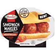 Hormel Compleats Microwaveable Sandwich Makers Meatballs in Marinara Sauce (Pack of 6) by Unknown