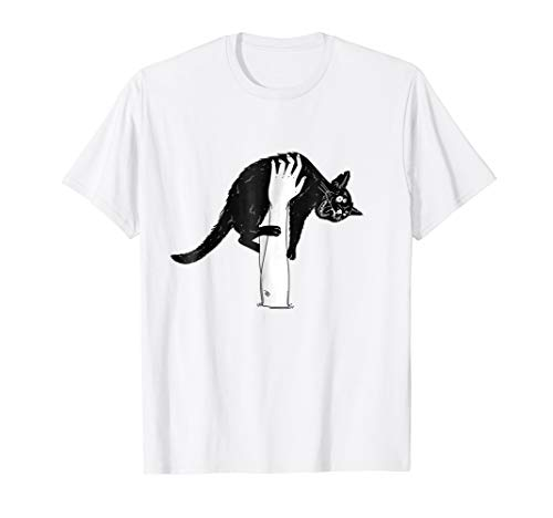 Black Crazy Angry Cat Claws TShirt Horror Halloween