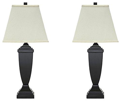 - Ashley Furniture Signature Design - Amerigin Table Lamps - Set of 2 - Elegant Style - Bronze Finish