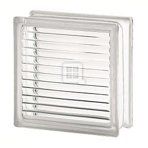 Quality Glass Block 7.5 x 7.5 x 3 Basic Paralline Glass Block