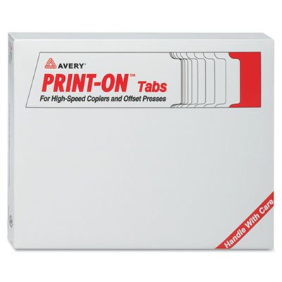 Avery 3-Hole Punched Copier Tabs - 5 x Tab - 5 Tab(s)/Set - 8.5