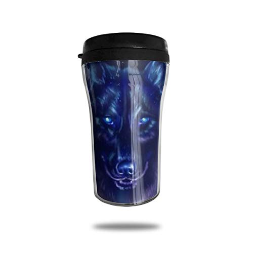 CZJAHBL Polar Aurora Space Gaxaly Nebula Wolf Travel Coffee Mug Delicate Printing Portable Vacuum Cup,Food Grade ABS Insulated Cup Anti-Spill(8.8 ()