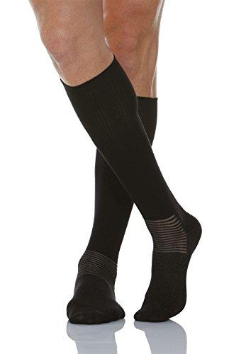 Relaxsan 550L (Black, Sz.6) Diabetic knee socks with X-Static Silver fiber ()