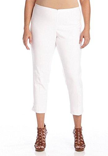 Karen Kane Women's Plus-Size Capri, White, 14W