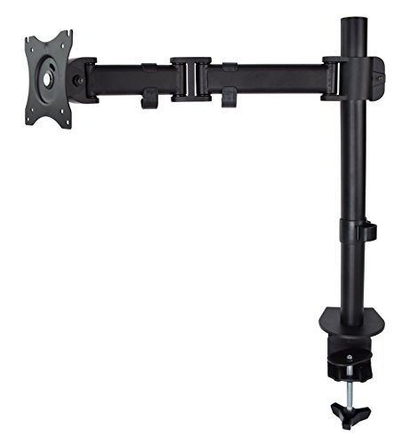 VIVO Single Monitor Desk Mount Fully Adjustable Articulating Stand/For 1 LCD Screen up to 27  (STAND-V001M) [並行輸入品] B07466B28G